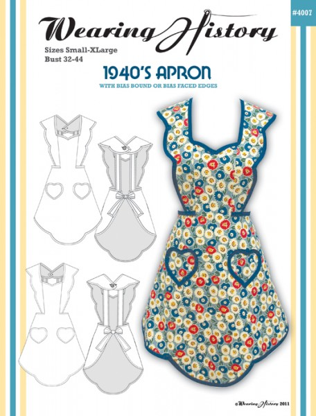 40's Apron Pattern Sample Photos Wearing History Blog Best Apron Patterns