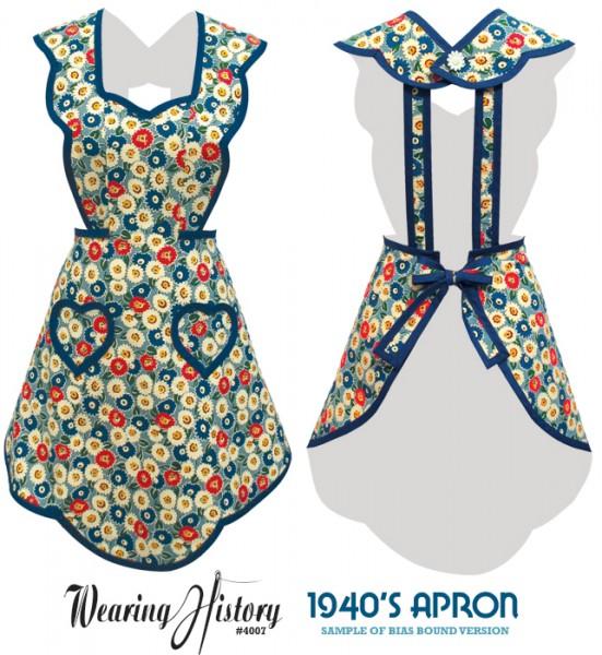 1940 s apron pattern sample photos wearing history 174 blog