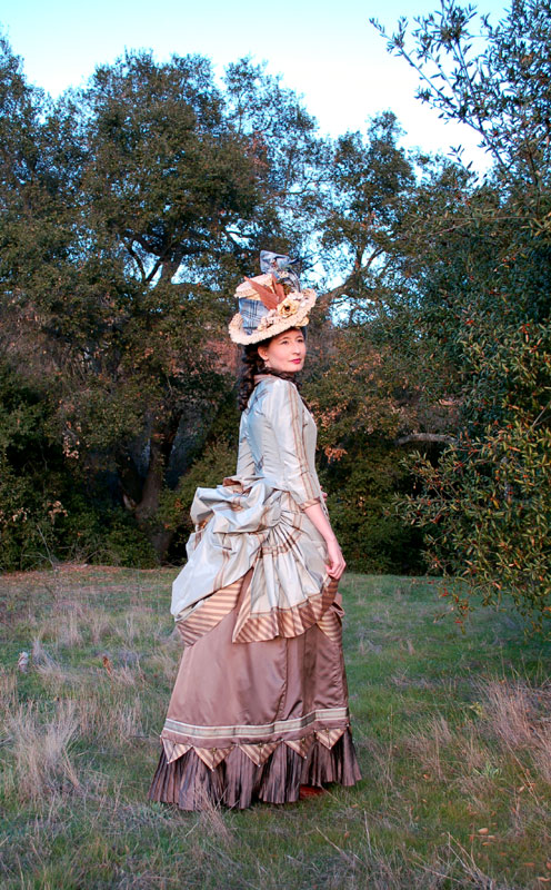 Finished Project: 1880s Bustle Dress and Hat – Wearing History® Blog