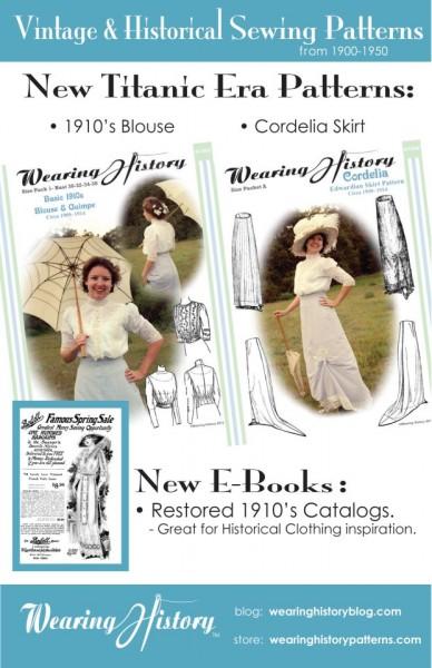 340dddd8544c Pattern Giveaway! 1910s Blouse Pattern – Wearing History® Blog