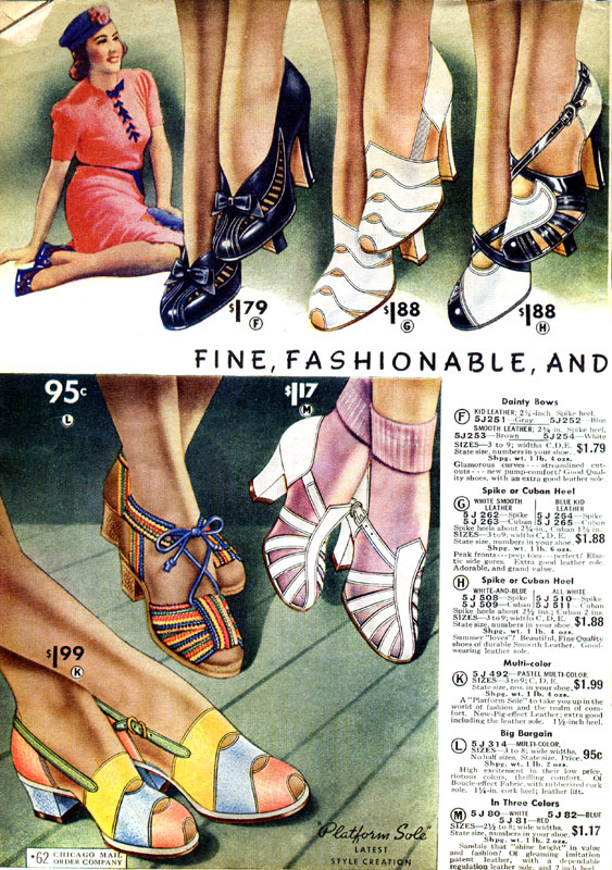 Cheery Summer Shoes 1938 Wearing History 174 Blog