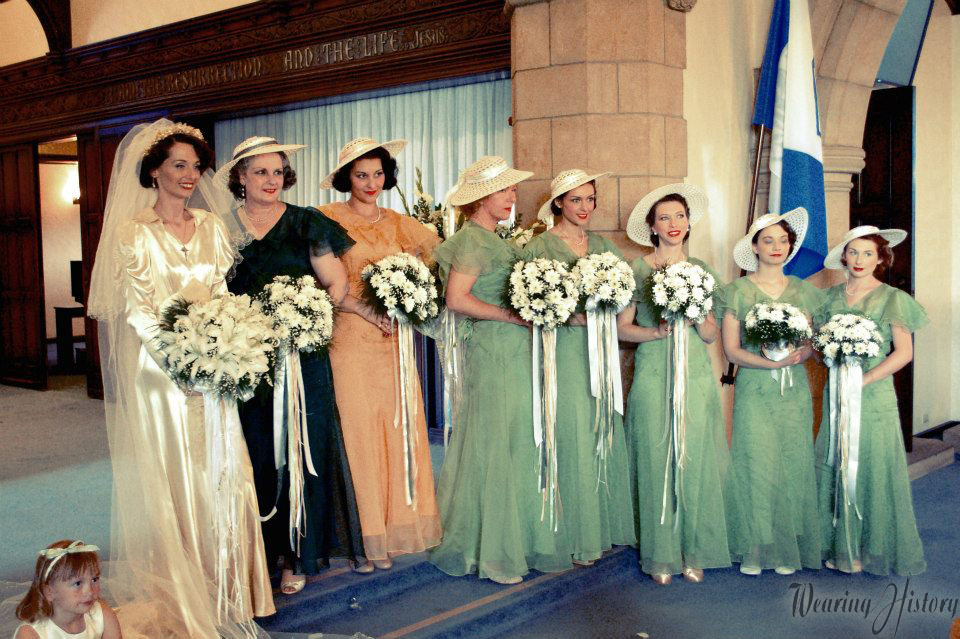 A Fashionable 1930s Wedding Wearing History Blog