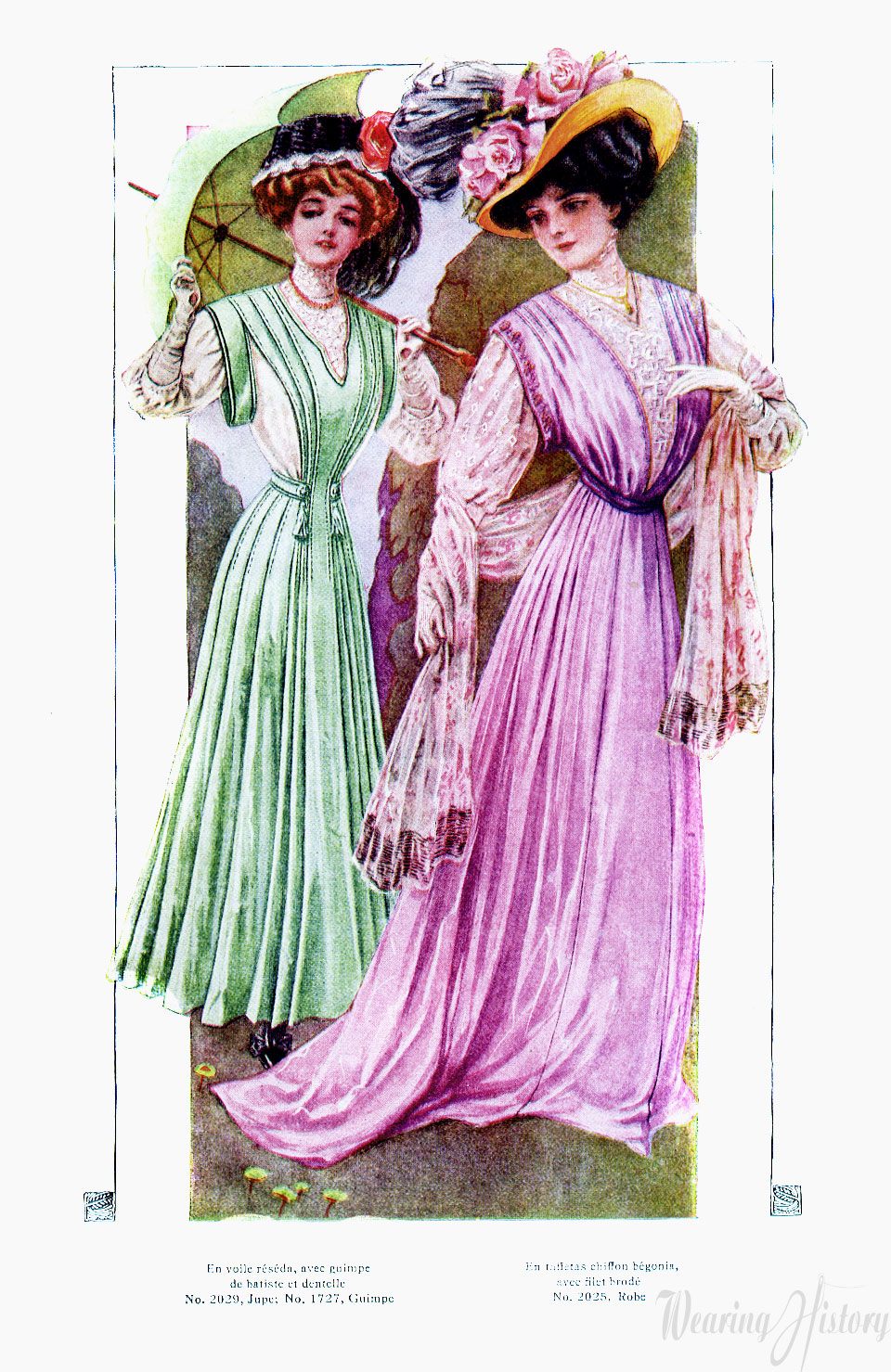 Pretty french frocks may 1908 wearing history blog for Miroir des modes prints