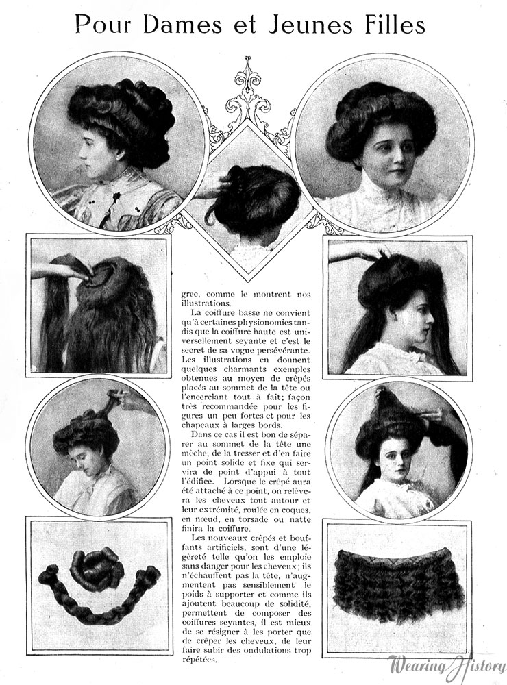 French Gibson Girl Hairstyles Wearing History Blog - Gibson girl hairstyle youtube