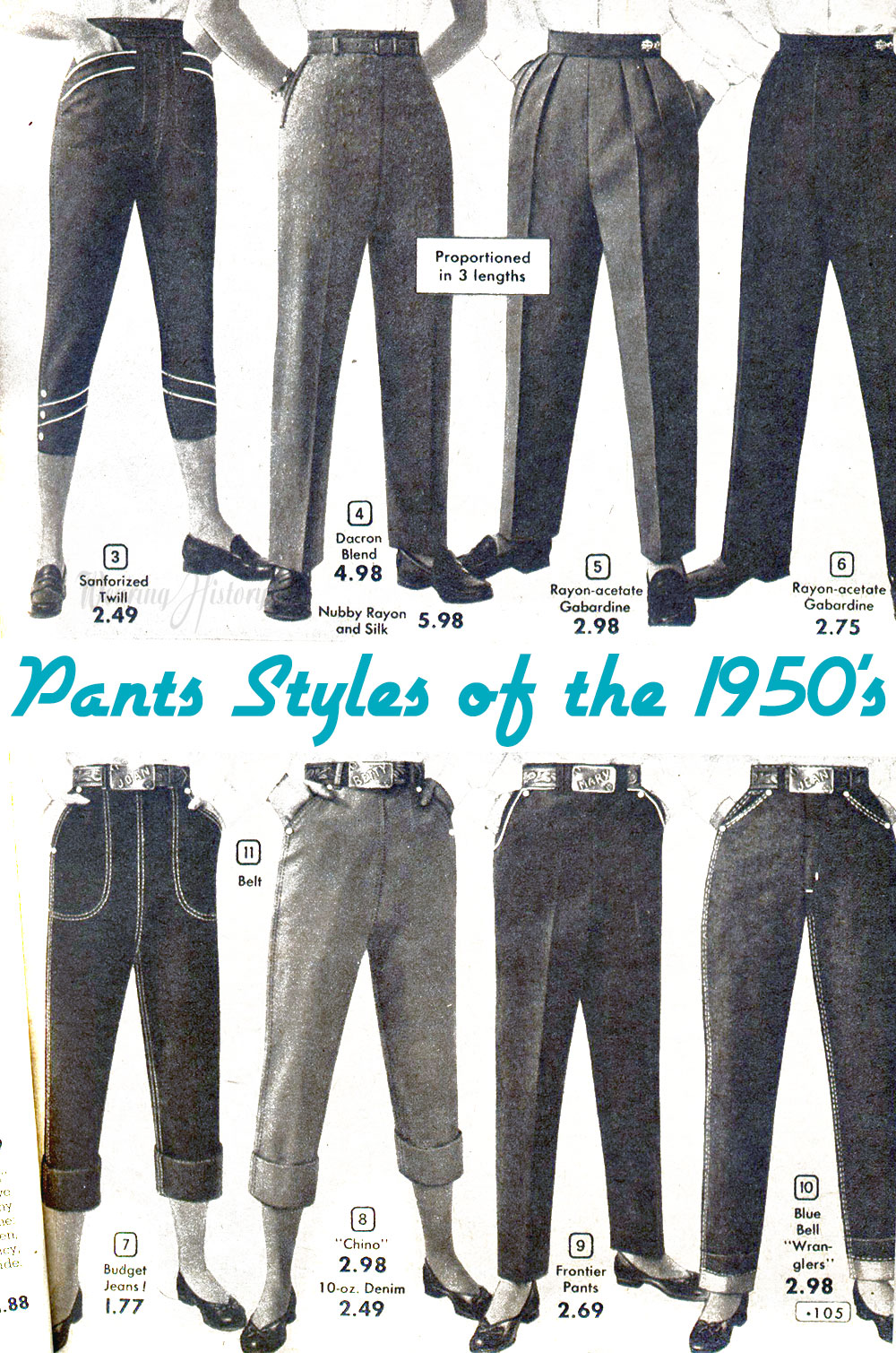 29 excellent 1950s womens fashion pants � playzoacom