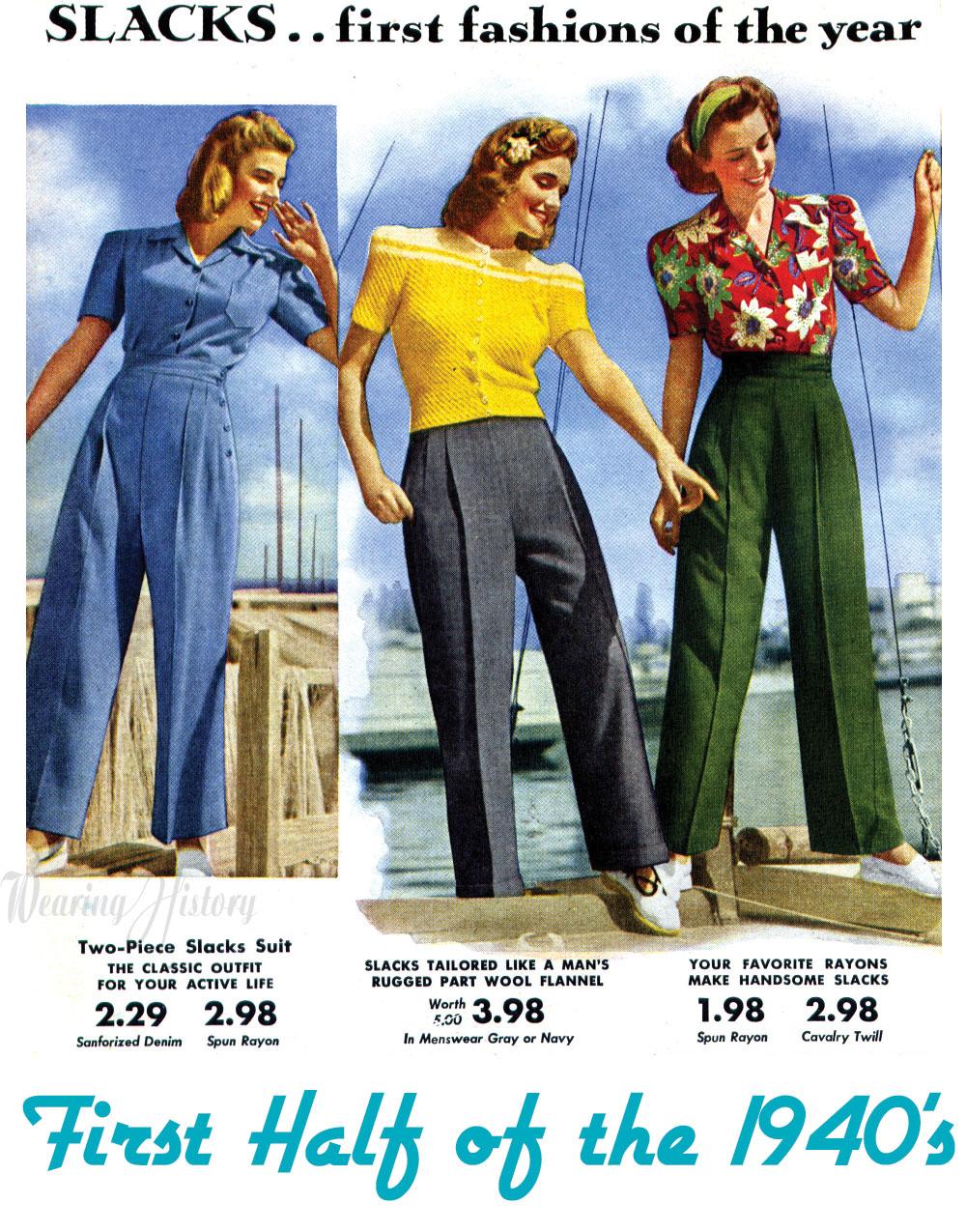 Did women wear jeans in the 1930s?