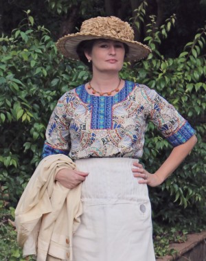 Wearing History:  19-teen Egyptomania Blouse