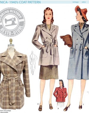 R120 Veronica Coat Pattern