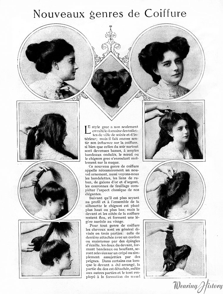 simple haircut designs vintage 1900 1910 edwardian on 1908 | 1908mayhairstyles